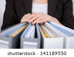 midsection of businesswoman... | Shutterstock . vector #141189550