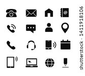 contact us icon set design... | Shutterstock .eps vector #1411918106