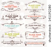 vintage vector set  hand drawn... | Shutterstock .eps vector #141192280