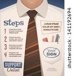 business suit background. retro ... | Shutterstock .eps vector #141192694