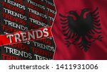 albania and trends title flag... | Shutterstock . vector #1411931006
