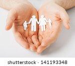 man hands showing family of... | Shutterstock . vector #141193348