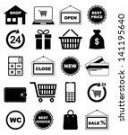 shopping icons | Shutterstock .eps vector #141195640