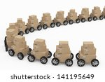 shipping and delivery concept | Shutterstock . vector #141195649