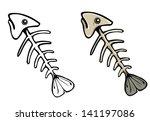 Vector Fish Skeleton
