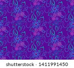 seamless pattern in the form of ... | Shutterstock .eps vector #1411991450