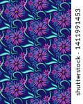 seamless pattern in the form of ... | Shutterstock .eps vector #1411991453