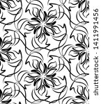 seamless pattern in the form of ... | Shutterstock .eps vector #1411991456