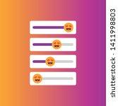 set of slider smile for social... | Shutterstock .eps vector #1411998803