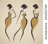 Vector Collection Of Girls In...