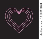 heart shaped symbol  stacked... | Shutterstock .eps vector #1412025893