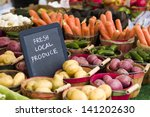 fresh produce on sale at the... | Shutterstock . vector #141202630