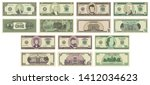 vector cartoon dollar banknotes ... | Shutterstock .eps vector #1412034623