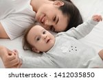 portrait of mother with her... | Shutterstock . vector #1412035850