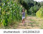 asian chinese little girl... | Shutterstock . vector #1412036213