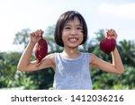asian chinese little girl... | Shutterstock . vector #1412036216