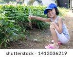 asian chinese little girl... | Shutterstock . vector #1412036219