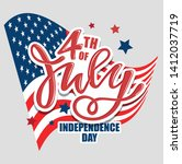 text 4th of july. independence... | Shutterstock .eps vector #1412037719