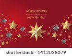 merry christmas and happy new...   Shutterstock .eps vector #1412038079