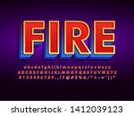 red text effect with detailed... | Shutterstock .eps vector #1412039123
