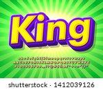 cartoon text effect with pop... | Shutterstock .eps vector #1412039126