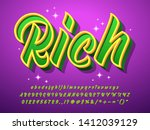 rich text effect with glitter... | Shutterstock .eps vector #1412039129