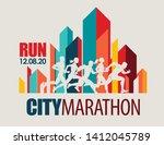 city marathon poster template ... | Shutterstock .eps vector #1412045789