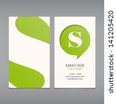 business card vector template ... | Shutterstock .eps vector #141205420