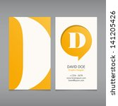 Business Card Vector Template ...
