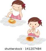 meal   child illustration | Shutterstock . vector #141207484