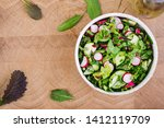 fresh salad of cucumbers ... | Shutterstock . vector #1412119709