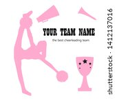 silhouette cheerleader girls... | Shutterstock .eps vector #1412137016