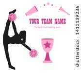 silhouette cheerleader girls... | Shutterstock .eps vector #1412139236
