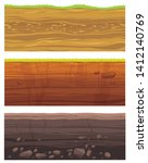 set of grounds layers.... | Shutterstock .eps vector #1412140769