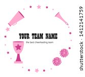 cheerleading teams web banner.... | Shutterstock .eps vector #1412141759