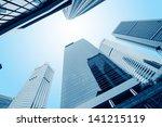modern business center in... | Shutterstock . vector #141215119