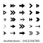 arrow icons.  icons cursor... | Shutterstock .eps vector #1412156783