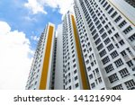 a new apartment building in... | Shutterstock . vector #141216904