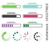 loading vector design... | Shutterstock .eps vector #1412174813
