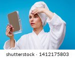 photo of girl in white coat and ... | Shutterstock . vector #1412175803
