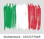 brush stroke flag of italy.... | Shutterstock .eps vector #1412177669