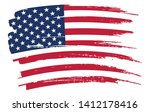brush stroke flag of usa.... | Shutterstock .eps vector #1412178416