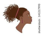 vector portrait of beautiful... | Shutterstock .eps vector #141217993