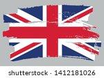 brush stroke flag of uk. grunge ... | Shutterstock .eps vector #1412181026