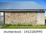 Wall Of An Old Farm House ...