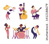 jazz band vector colorful... | Shutterstock .eps vector #1412188679