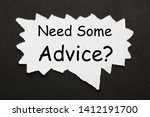 'need some advice' text on torn ... | Shutterstock . vector #1412191700