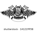 vector illustration old viking... | Shutterstock .eps vector #141219958