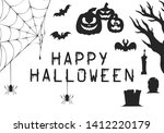 halloween party invitation and...   Shutterstock .eps vector #1412220179