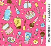 seamless pattern with cute... | Shutterstock .eps vector #1412223836